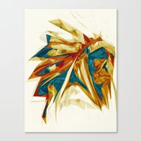 native american Canvas Prints featuring Native American by Jo Tan