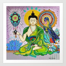 Buddha Freedom Nirvana Art Print