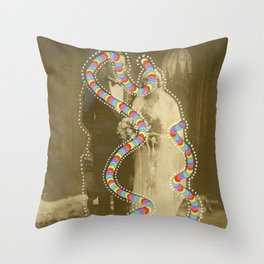 Space-Time Rupture 004 Throw Pillow