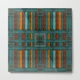 """""""Blue vintage textile patches"""" Metal Print"""