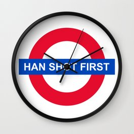 Han Shot First Wall Clock