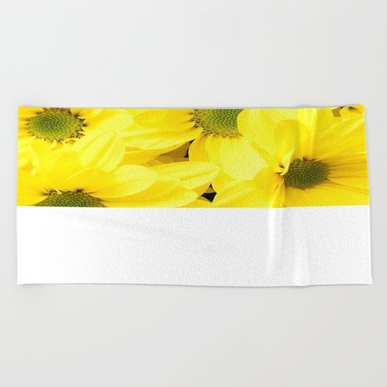 Happy Of A Flower Beach Towel