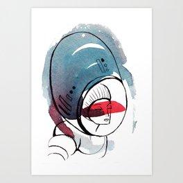 Astro Dame Art Print