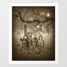 Playground Swing Art Print