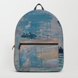 Claude Monet Impression Sunrise Backpack