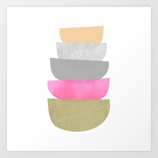 Balance, Mid Century Modern Art by itaya