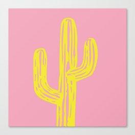 Golden Cactus Canvas Print