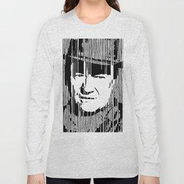 John Wayne Black & White Huge Poster Print Long Sleeve T-shirt