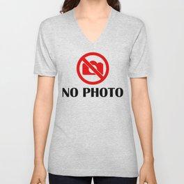 no photo Unisex V-Neck