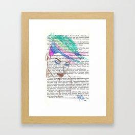 Parrot Hair Framed Art Print