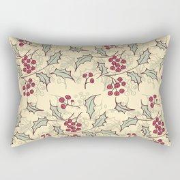 Holly berry Christmas pattern design Rectangular Pillow