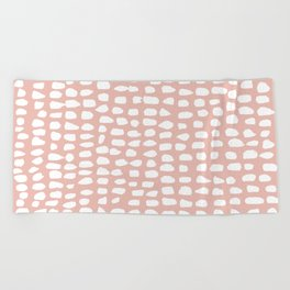 Dots / Pink Beach Towel