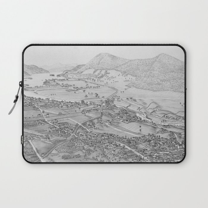 Ticonderoga Map 1884 Laptop Sleeve