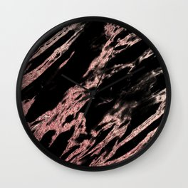 Darkness rose gold Wall Clock