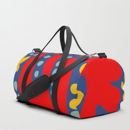 C'est la Vie Abstract Pattern French Art Red Yellow Blue Duffle Bag