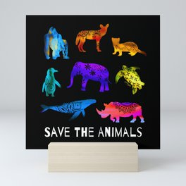 Save The Endangered Animals Mini Art Print