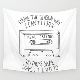 Real Friends Cassette Wall Tapestry