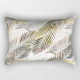 Fern's leaves on white background. Rectangular Pillow