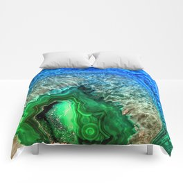 Turquoise Green Agate Mineral Gemstone Comforters