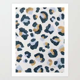 Snow Leopard Print Art Print