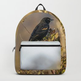 Blackbird in Autumn Light Backpack