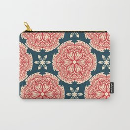 Hand drawn abstract Christmas flower pattern. Carry-All Pouch
