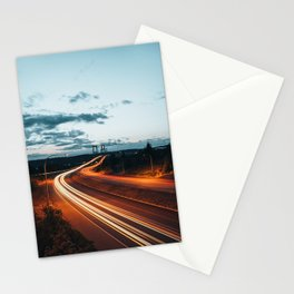 Highway Lights Stationery Cards