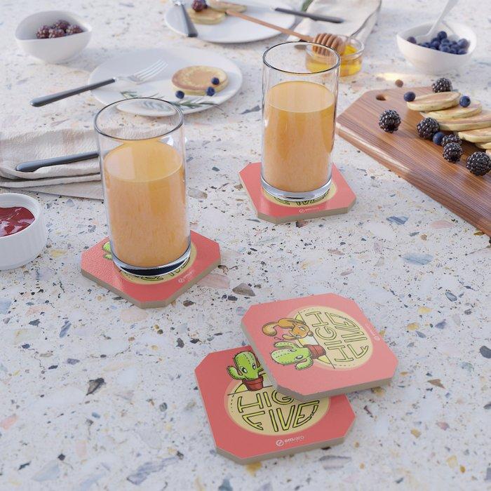 Scribbles & Prickles: High five Coaster