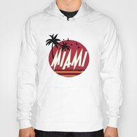 miami Hoodies featuring Miami by FRSHCo.