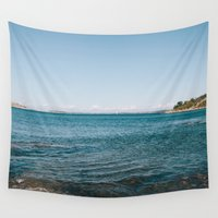 scandinavian Wall Tapestries featuring scandinavian seascape I by Emelie Johansson