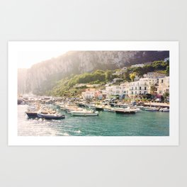 Capri: Summer Boats Art Print