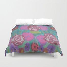 Bohemian Flower Garden Duvet Cover