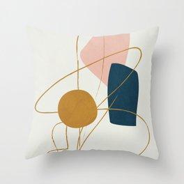 Minimal Abstract Shapes No.46 Throw Pillow