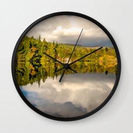 Lake Bodgynydd Snowdonia Wall Clock