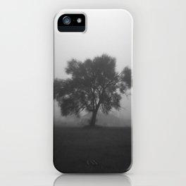 Tree in Field of Fog iPhone Case