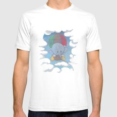 Elephant balloon Mens Fitted Tee SMALL White