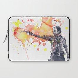 Portrait of Rick Grimes from The Walking Dead Laptop Sleeve