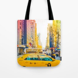 Colors of New York City Downtown Manhattan Tote Bag