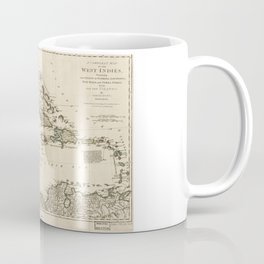 Map of the West Indies by Samuel Dunn (1774) Coffee Mug