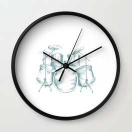 Drummers Music Lovers Rock Bands Drumming Musician Gift Drums Wall Clock