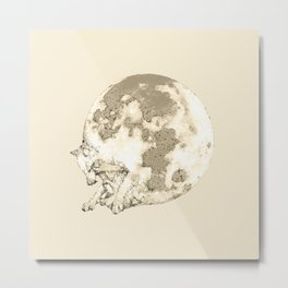 In which a wolfy moon thing happens Metal Print
