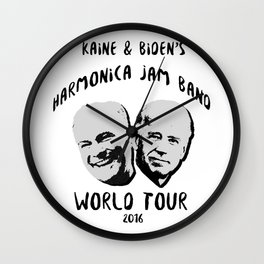 Biden and Kaine's Harmonica Jam Band Tour 2016 Wall Clock