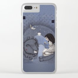 Lion Tamer Clear iPhone Case