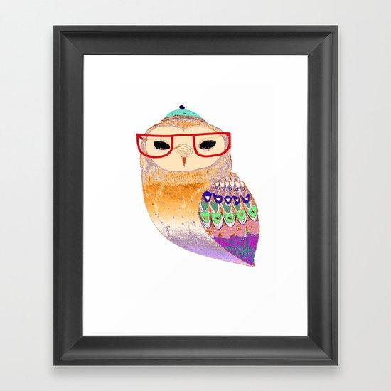 Pretty Awesome owl Framed Art Print