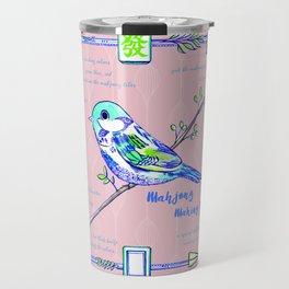 Lovely Sparrow - Mahjong Travel Mug