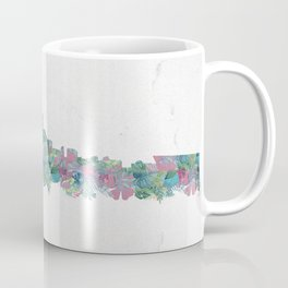 Minneapolis Minnesota Skyline Floral Pattern Coffee Mug