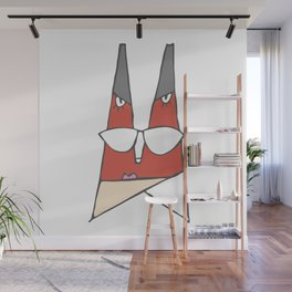 Red lady Wall Mural