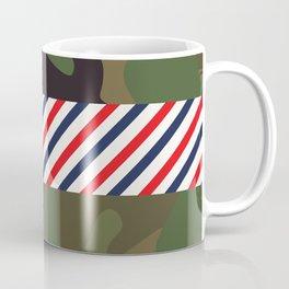 Barber Camo Pattern Coffee Mug
