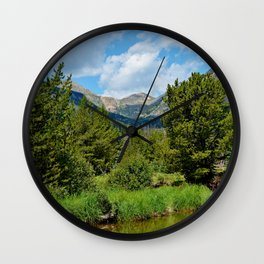 Bowen Mountain 2018 Study 3 Wall Clock