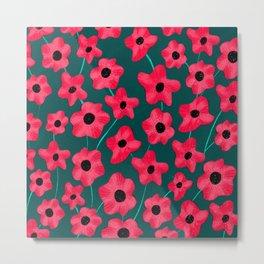 Poppies' field Metal Print